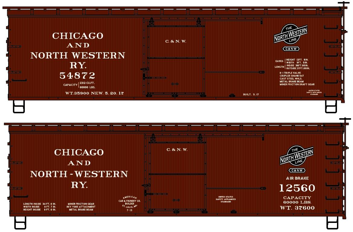 Monad Herald Accurail HO #3381 40/' Steel Box 3 Pack