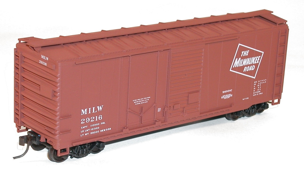 3-Pack Kit 40/' Rob Side Steel Boxcar Accurail HO #8124 Milwaukee Road Plastic